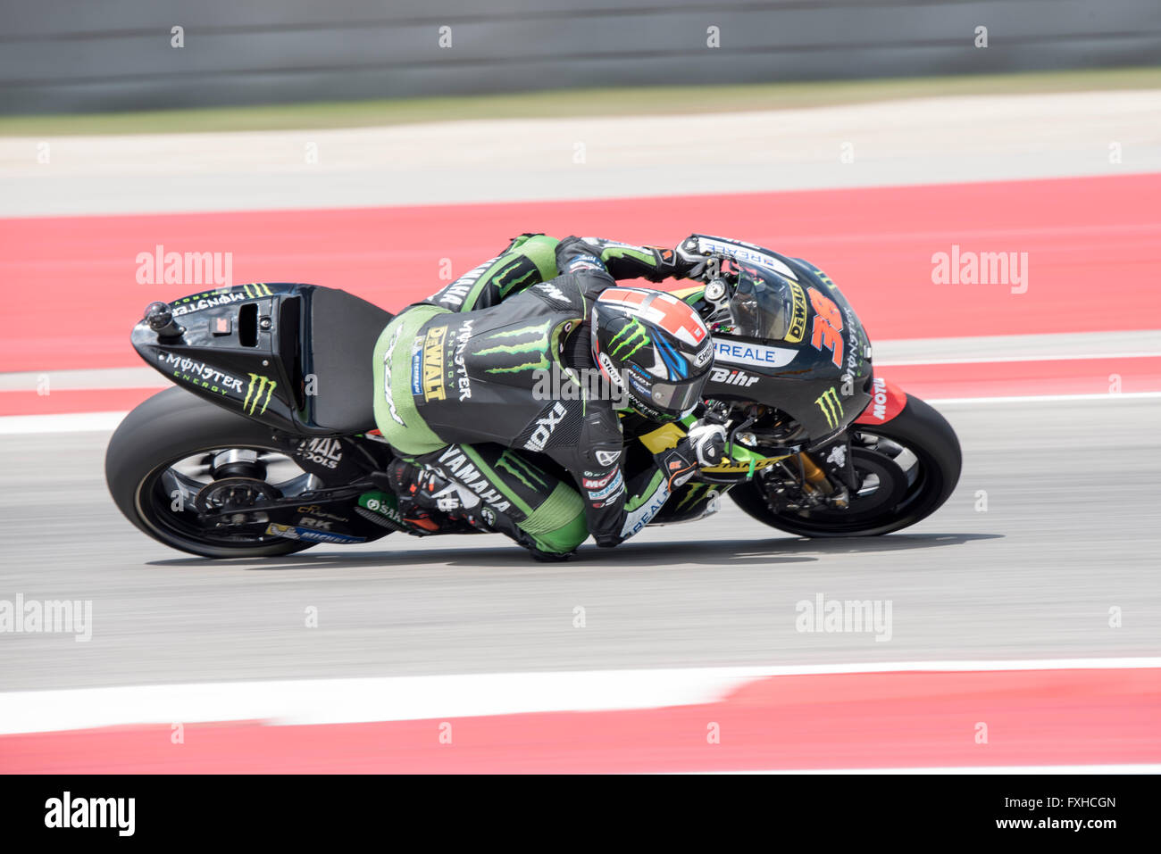 Bradley Smith of Monster Yamaha Tech 3 seen during the 2016 Red Bull Grand Prix of the Americas at Circuit of the Stock Photo
