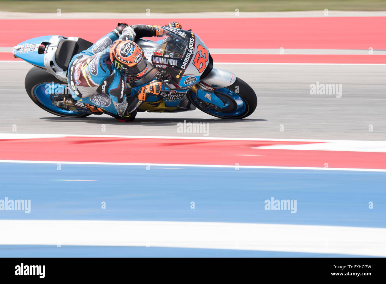 Tito Rabat of Estrella Galiicia seen during the 2016 Red Bull Grand Prix of the Americas at Circuit of the Americas. Stock Photo