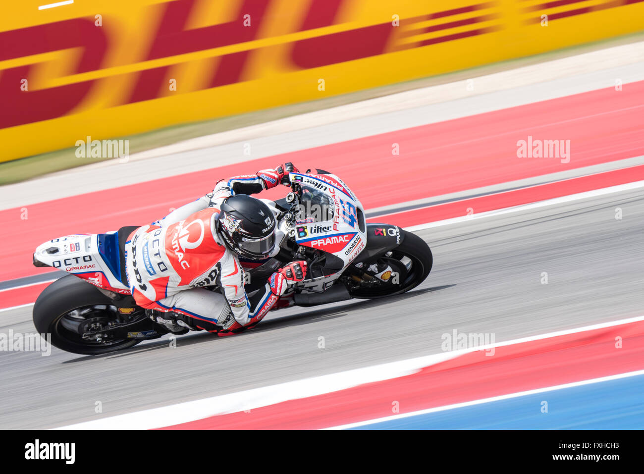 Scott Redding of Octo Pramac Yakhnich seen during the 2016 Red Bull Grand Prix of the Americas at Circuit of the Stock Photo