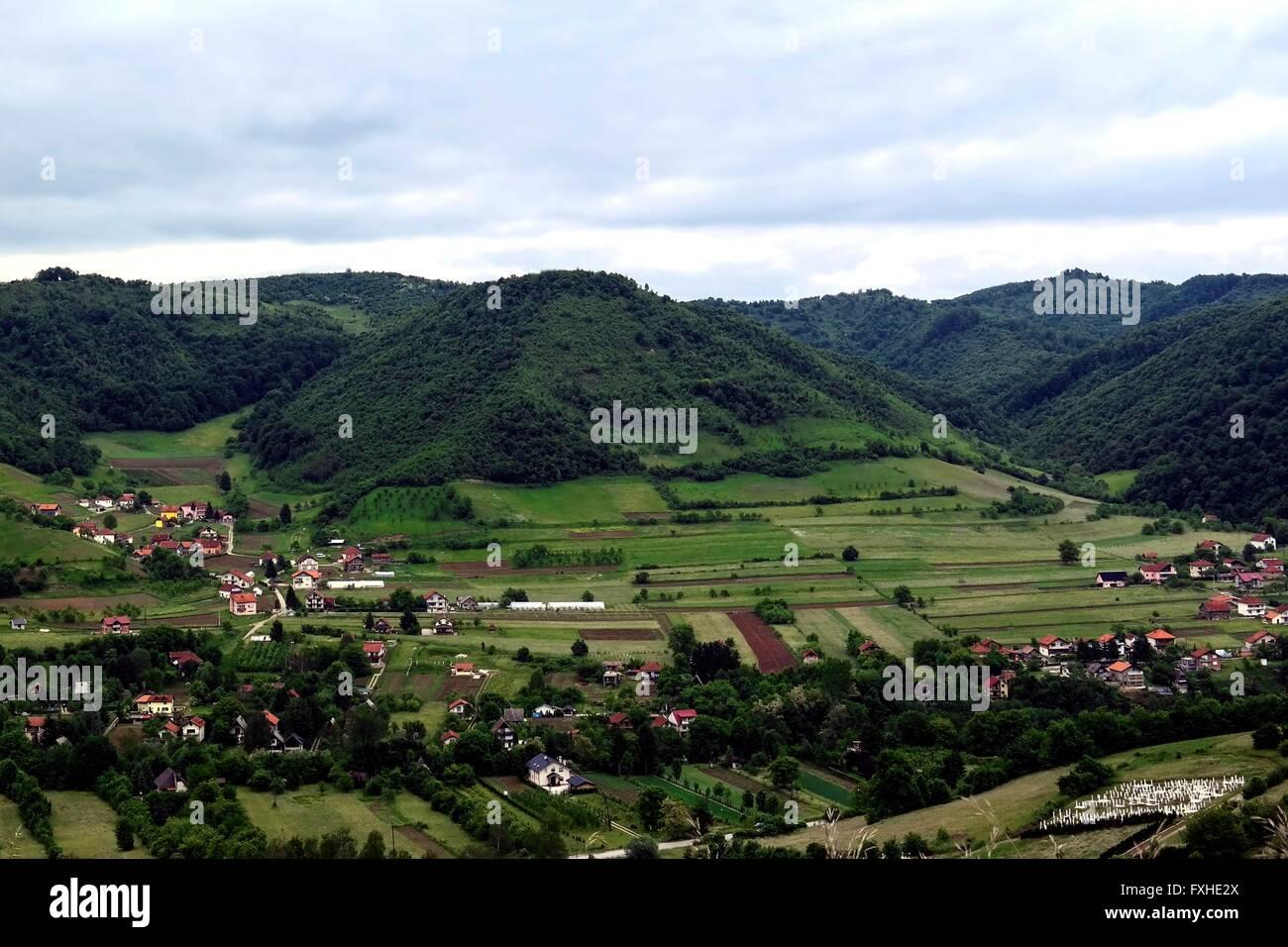 'Pyramide of the moon' in Visoko, Bosnia - Stock Image