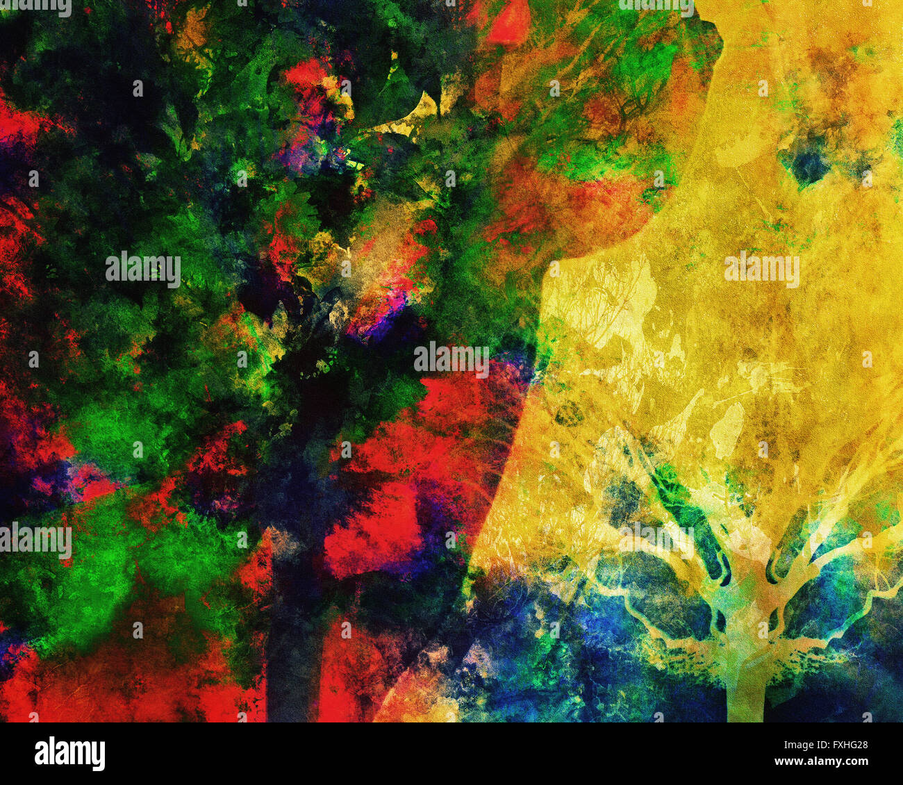 DIGITAL ART: The Autumn Hour Stock Photo