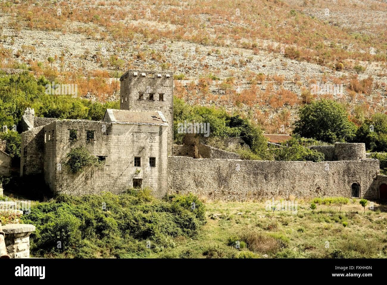 Castle in Staro Slano, Trebinje, Republika Srpska. - Stock Image