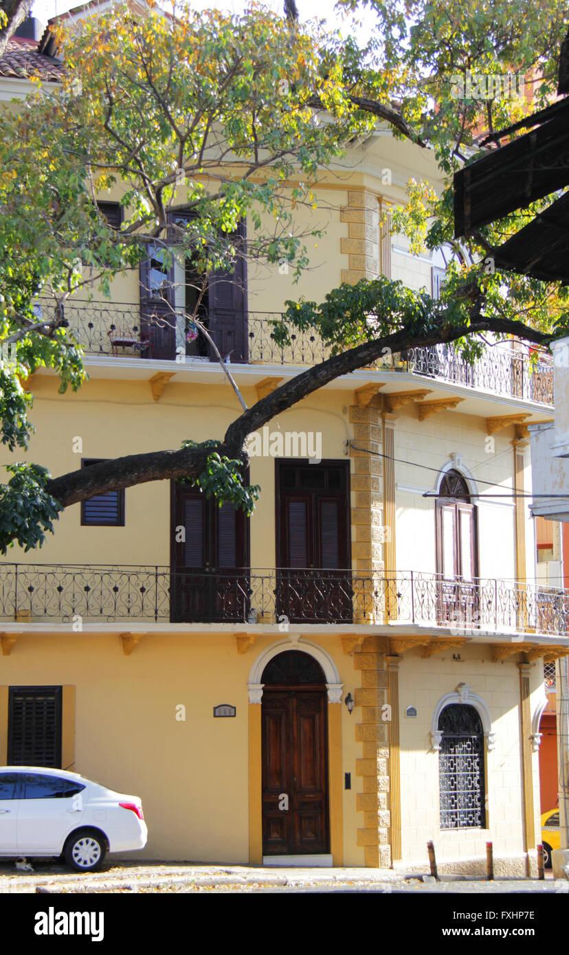 Building at Casco Antiguo, Panama - Stock Image