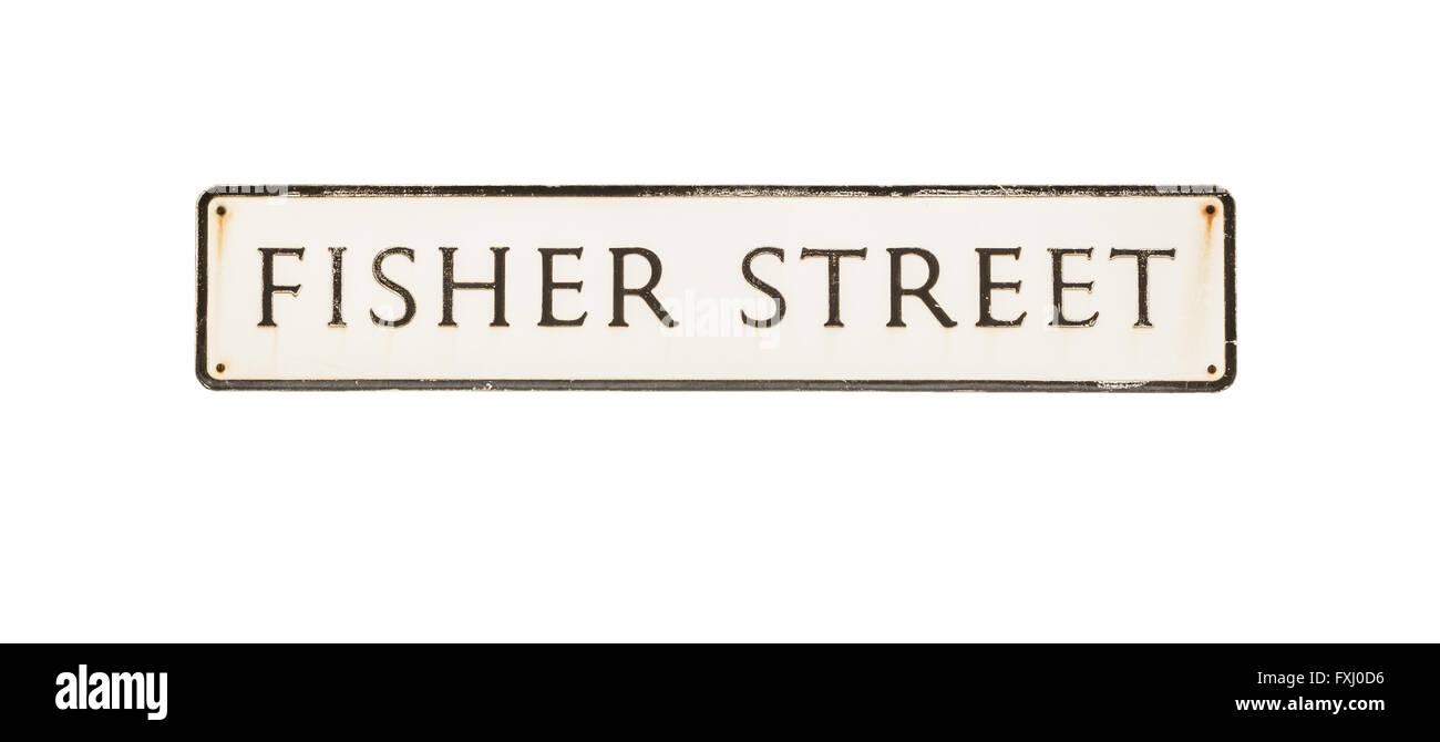 Fisher Street - street / road name. - Stock Image