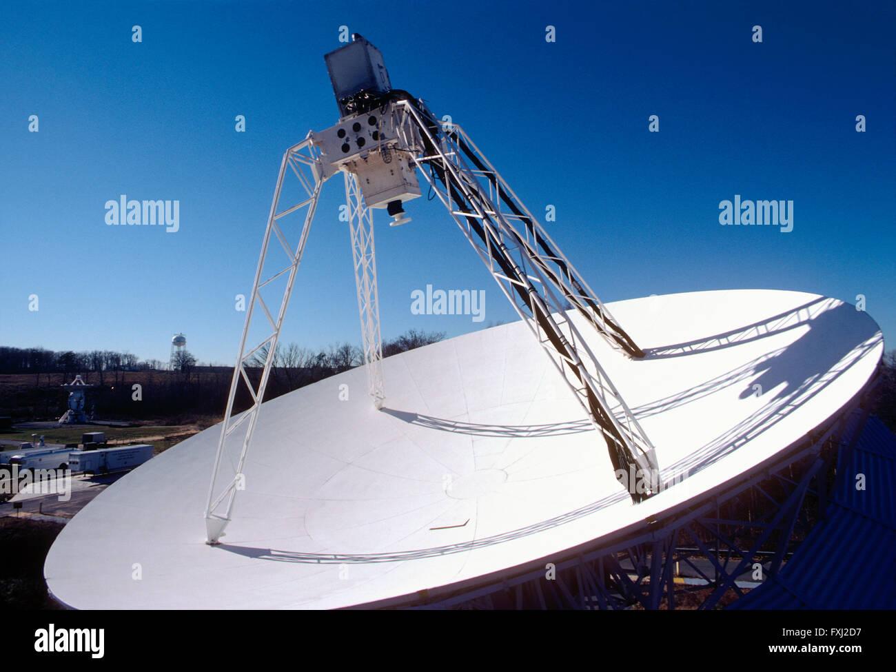 Telecommunications satellite dish at NASA facility outside of Washington, D.C., USA - Stock Image