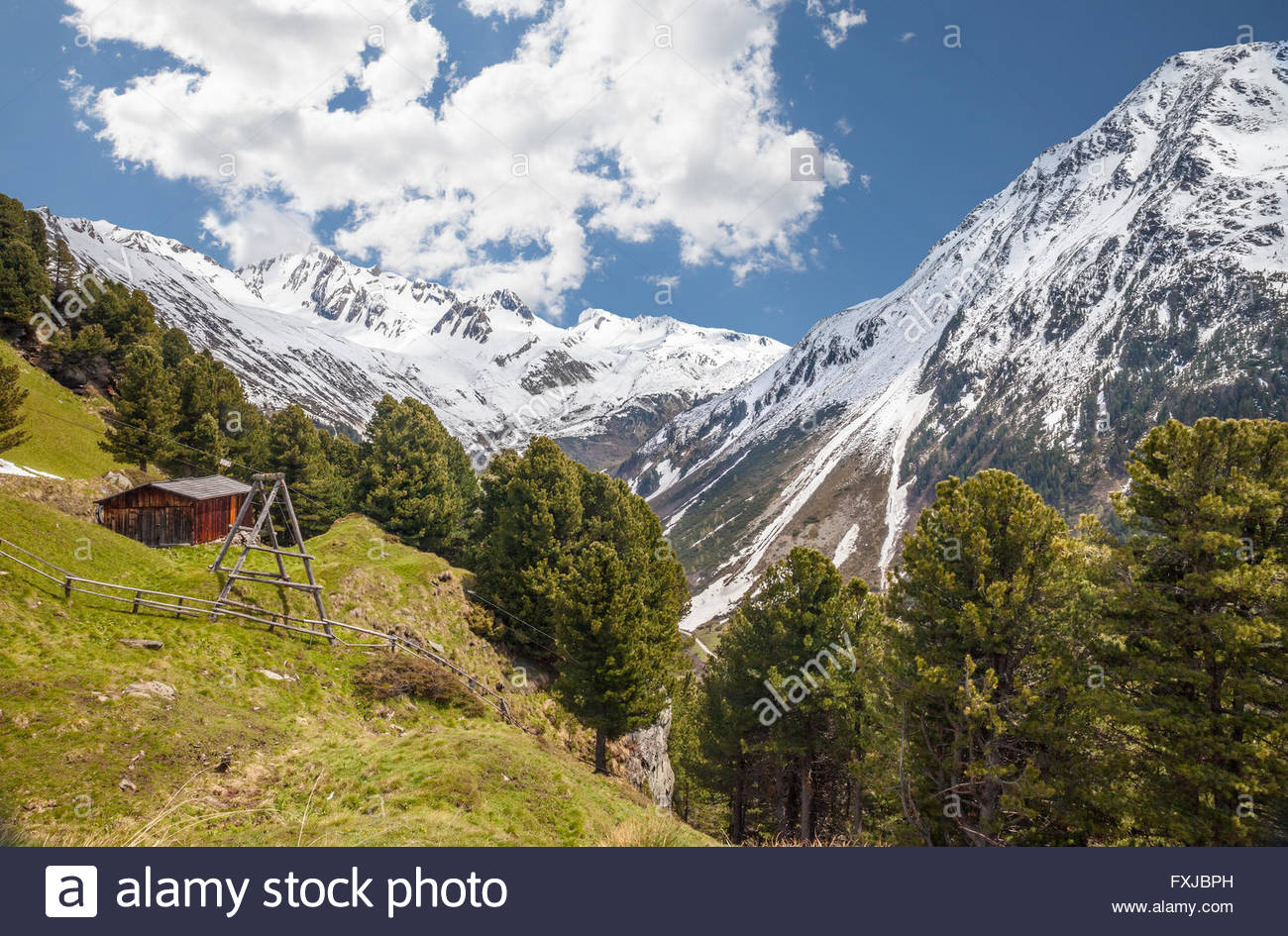 Alp in Riva di Tures, Campo Tures, South Tyrol, Italy - Stock Image