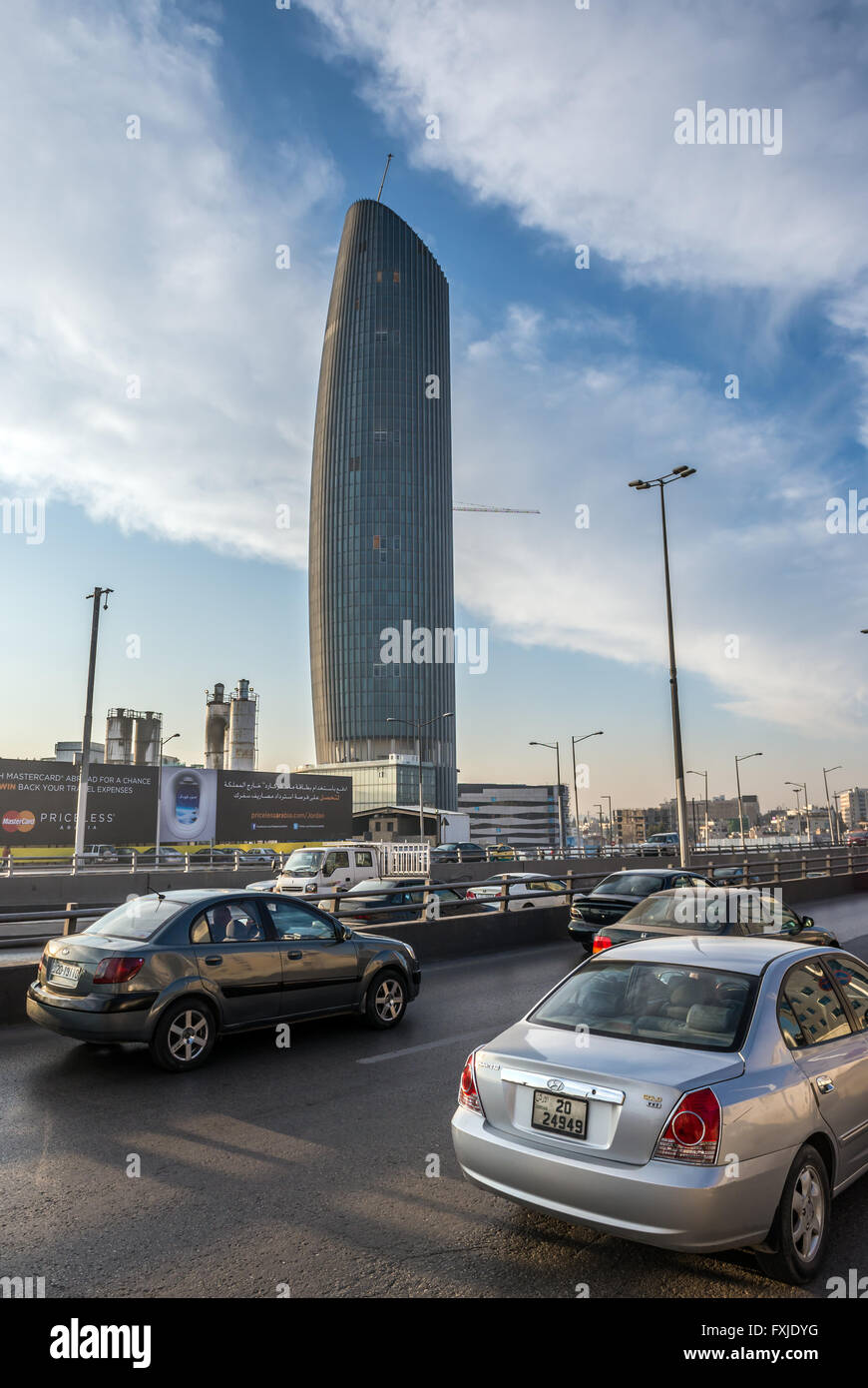 Amman Rotana Hotel Tower Part Of Abdali Project In City Capital Jordan View From Queen Noor Street