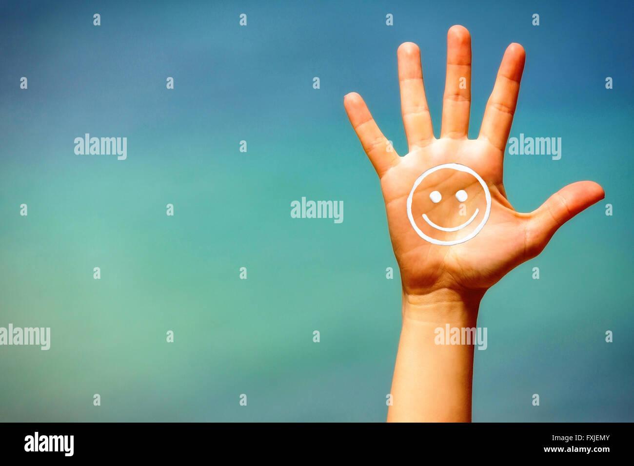 Summer greeting. - Stock Image