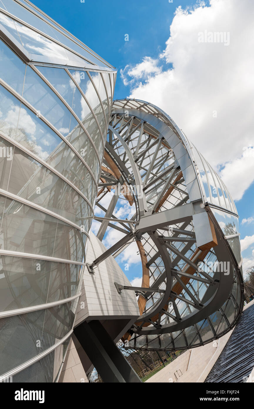 France, Paris, Fondation Louis Vuitton Stock Photo
