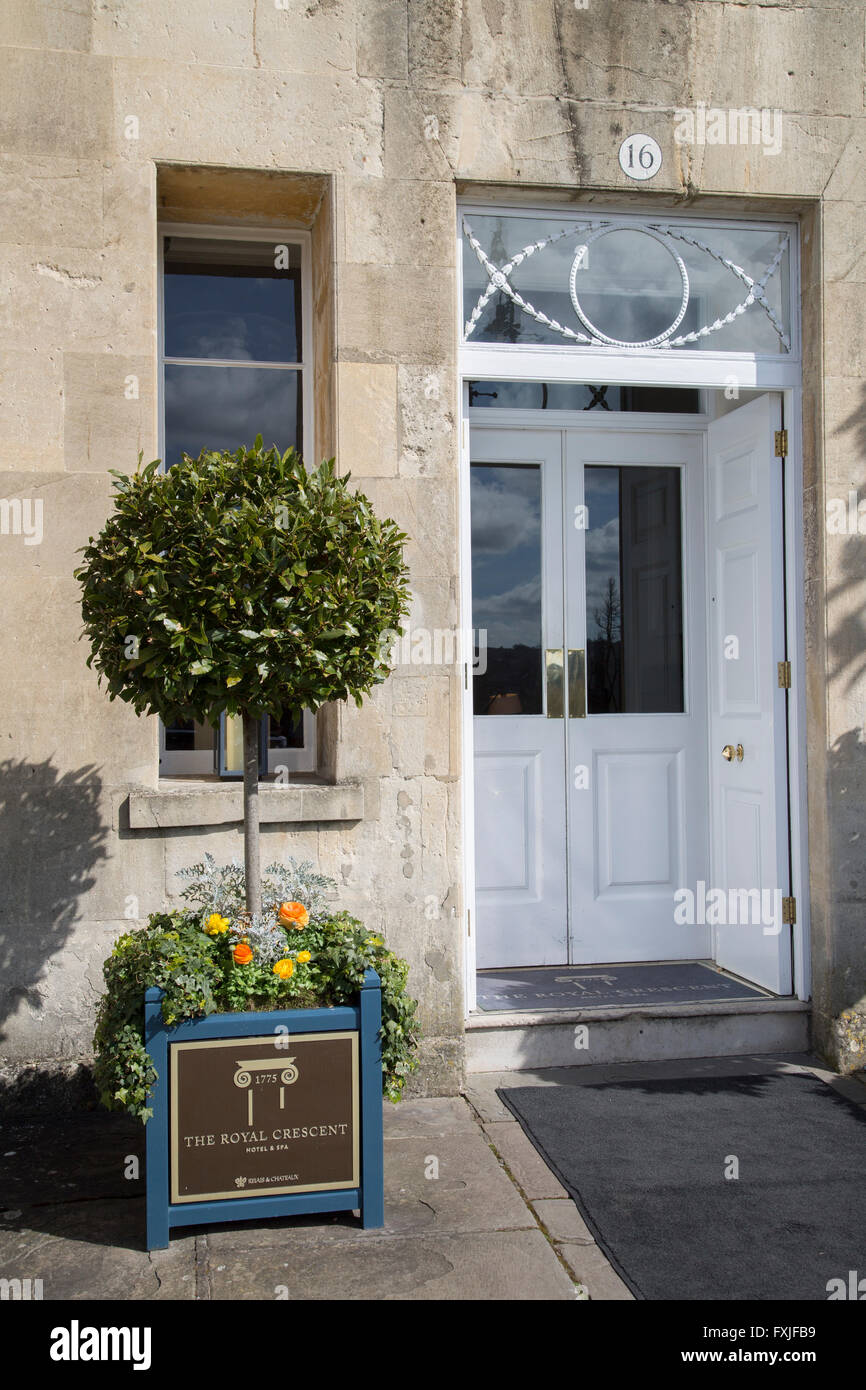 Royal Cresent Hotel and Spa; Bath; England; UK - Stock Image