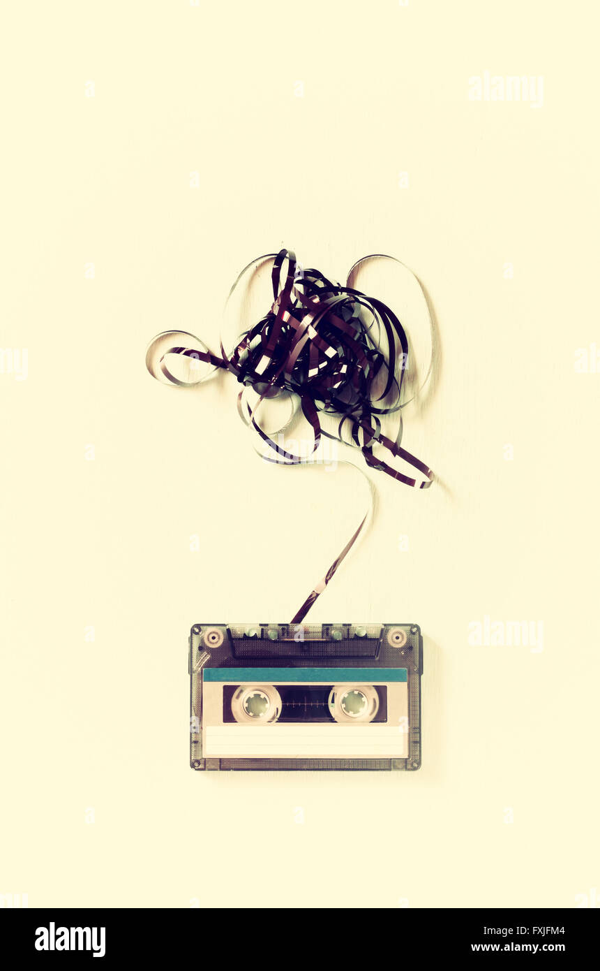 Audio cassette tape with subtracted out tape Stock Photo