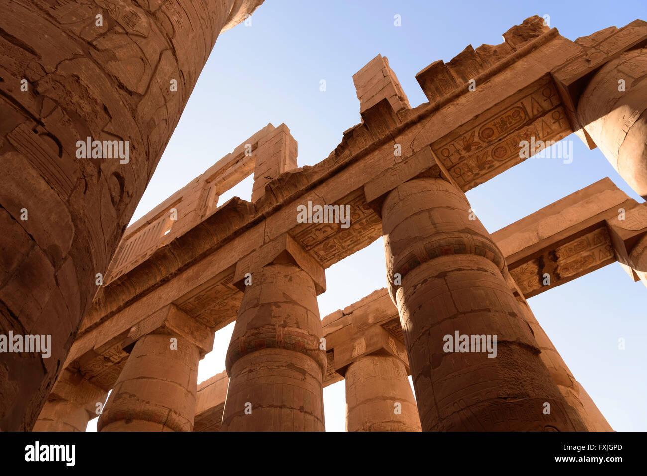 Karnak Temple Luxor Egypt - Stock Image