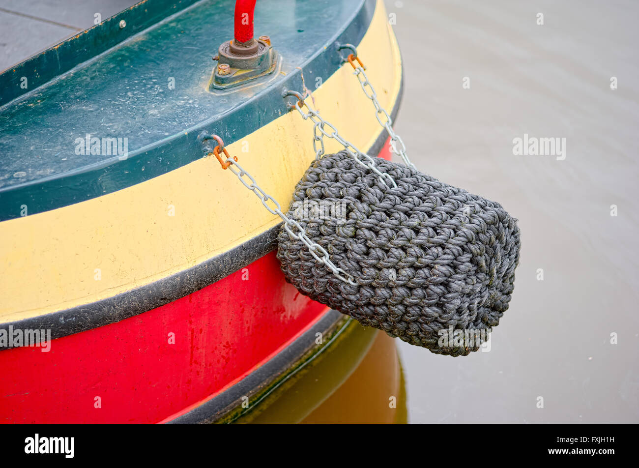 detail of canal narrowboat - Stock Image