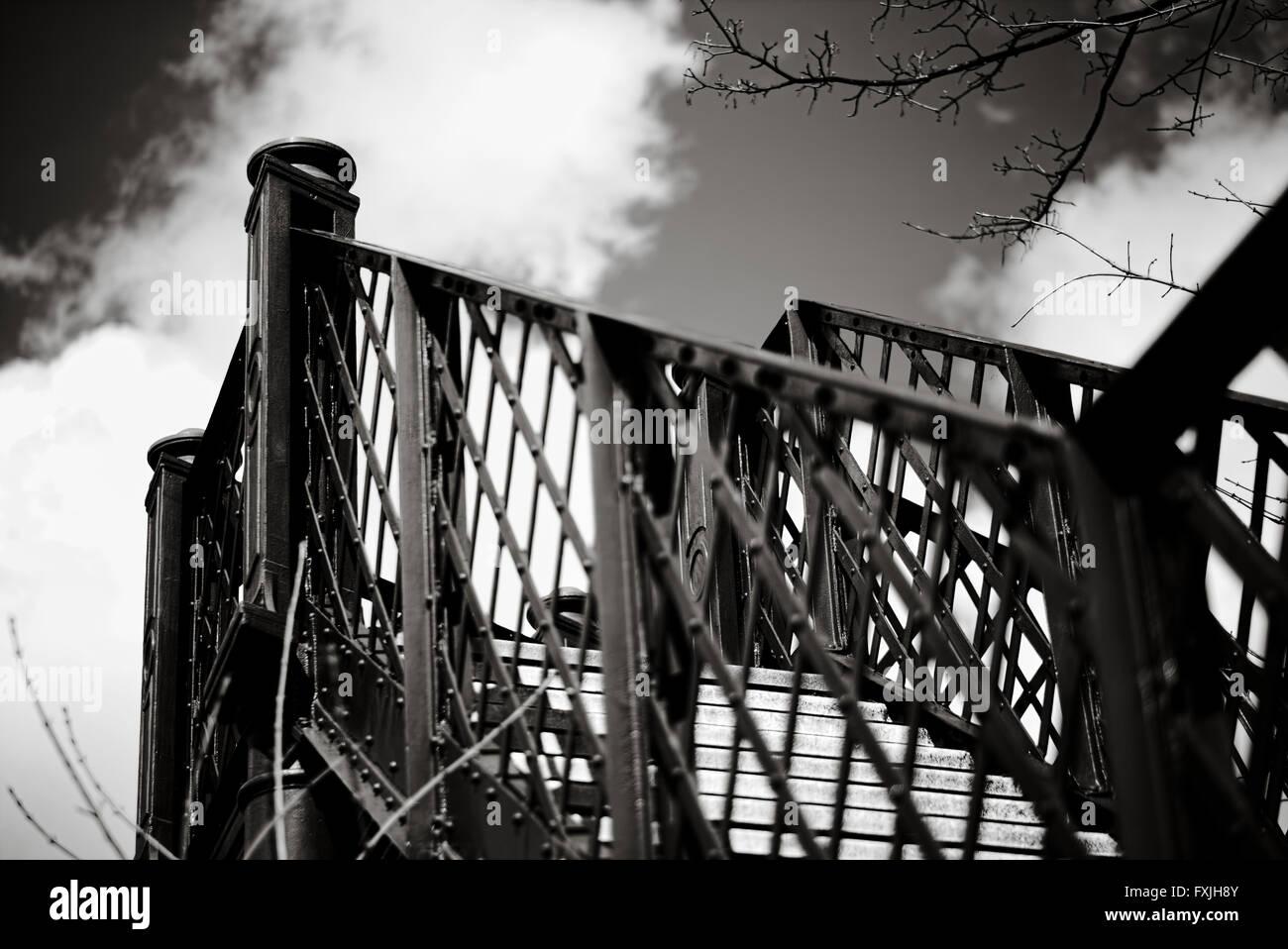 railway bridge - Stock Image