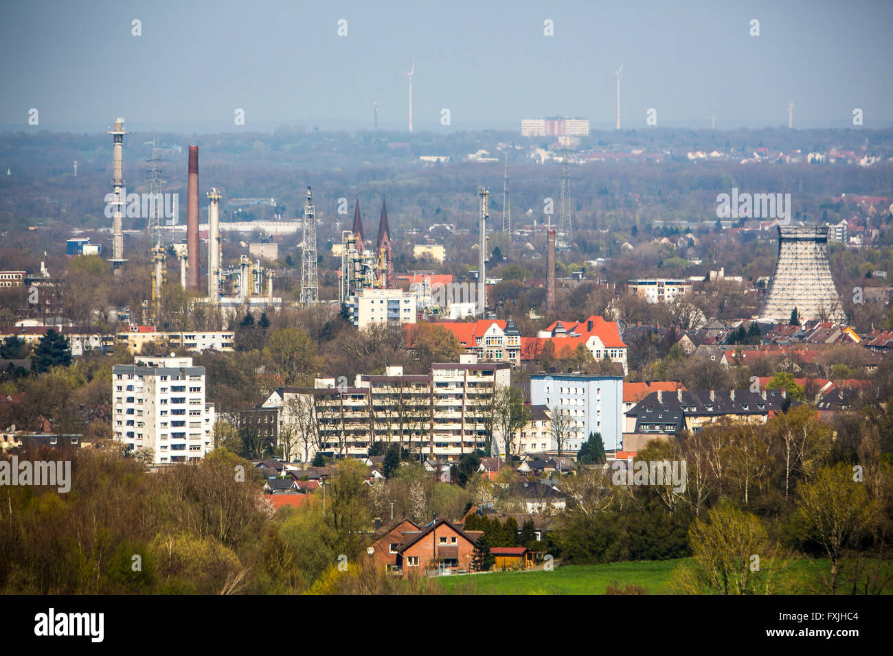 Overlooking Herne, INEOS Chemical Works, Germany - Stock Image