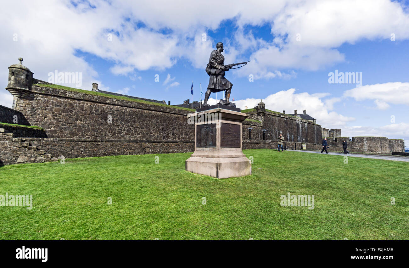 Memorial to Argyle & Sutherland Highlanders losses during the South African war at Stirling Castle Stirling - Stock Image