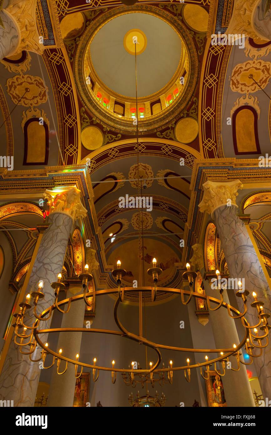 Orthodox church interior - Stock Image