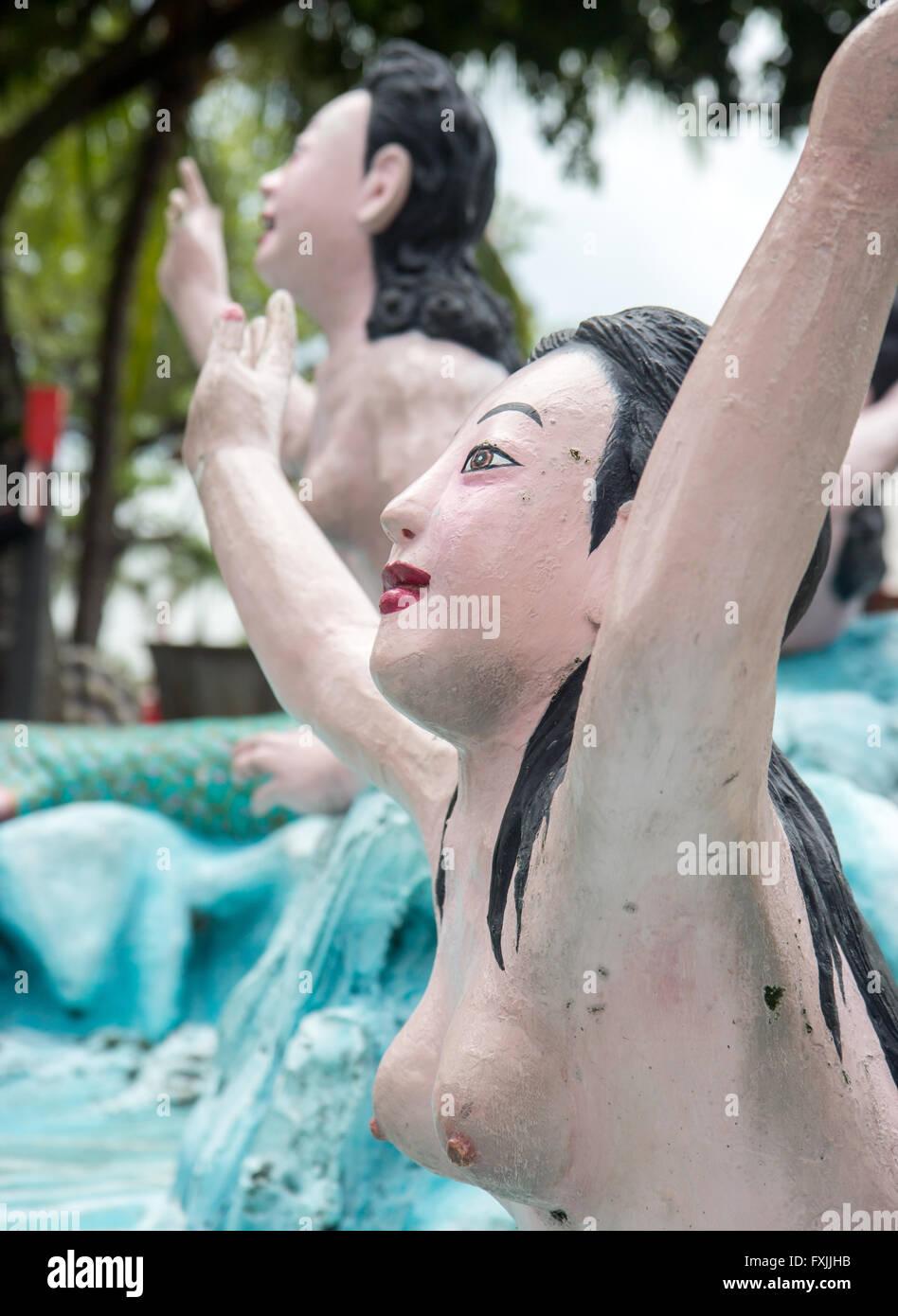 statues of mermaid (siren) - Stock Image