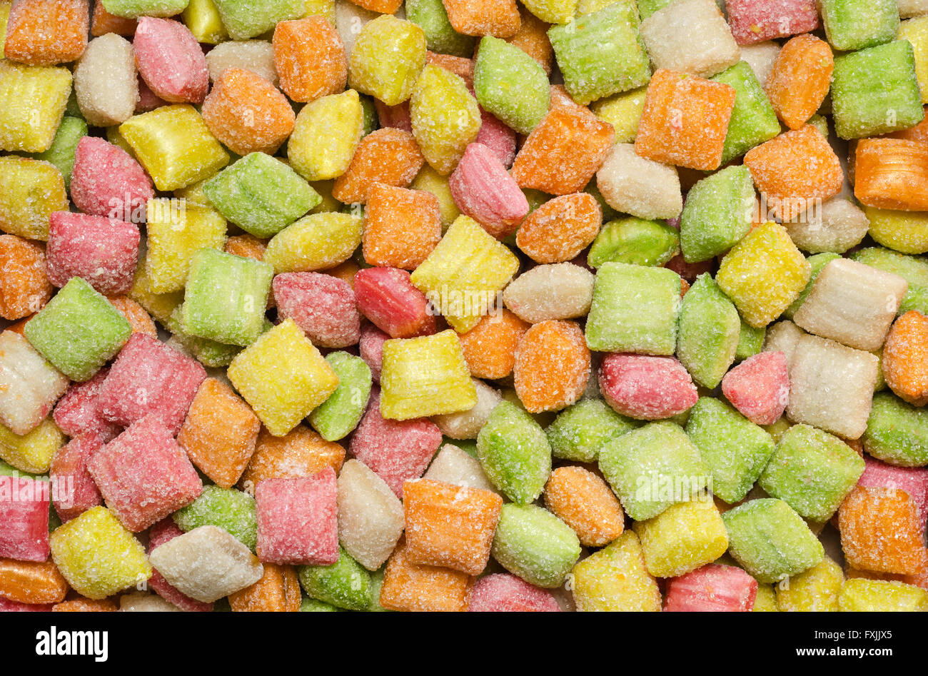 Fruity candy without wrappers - Stock Image