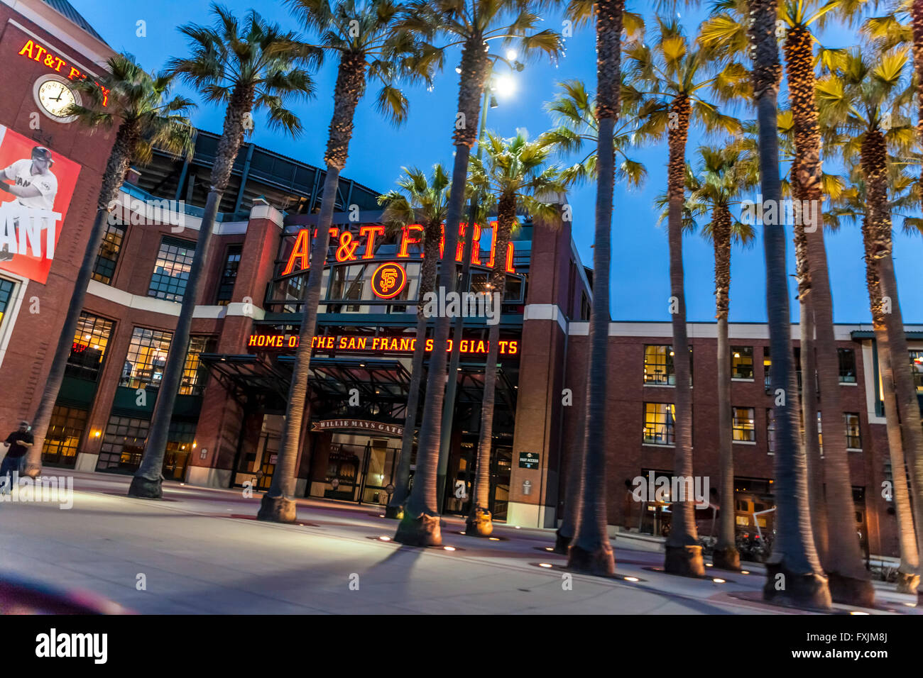 AT&T park in San Francisco California home of the Giants baseball team - Stock Image