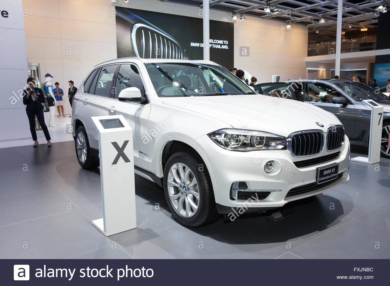 BANGKOK - MARCH 22: BMW X5 Celebration Edition car on display at The 37 th Thailand Bangkok International  Motor - Stock Image