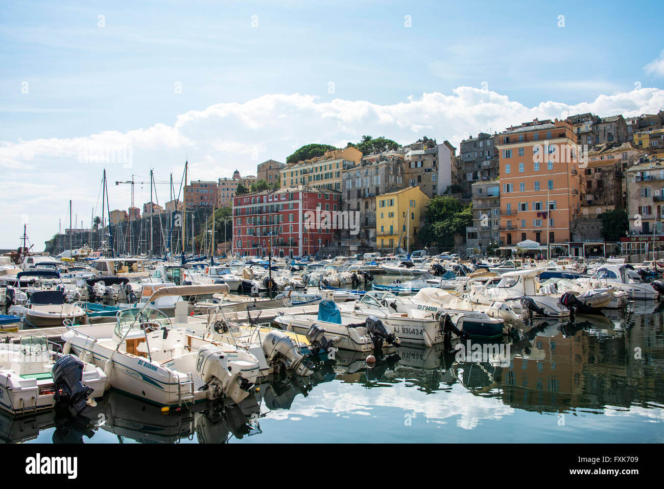 Old Port With Motorboats Vieux Port Port De Plaisance Bastia