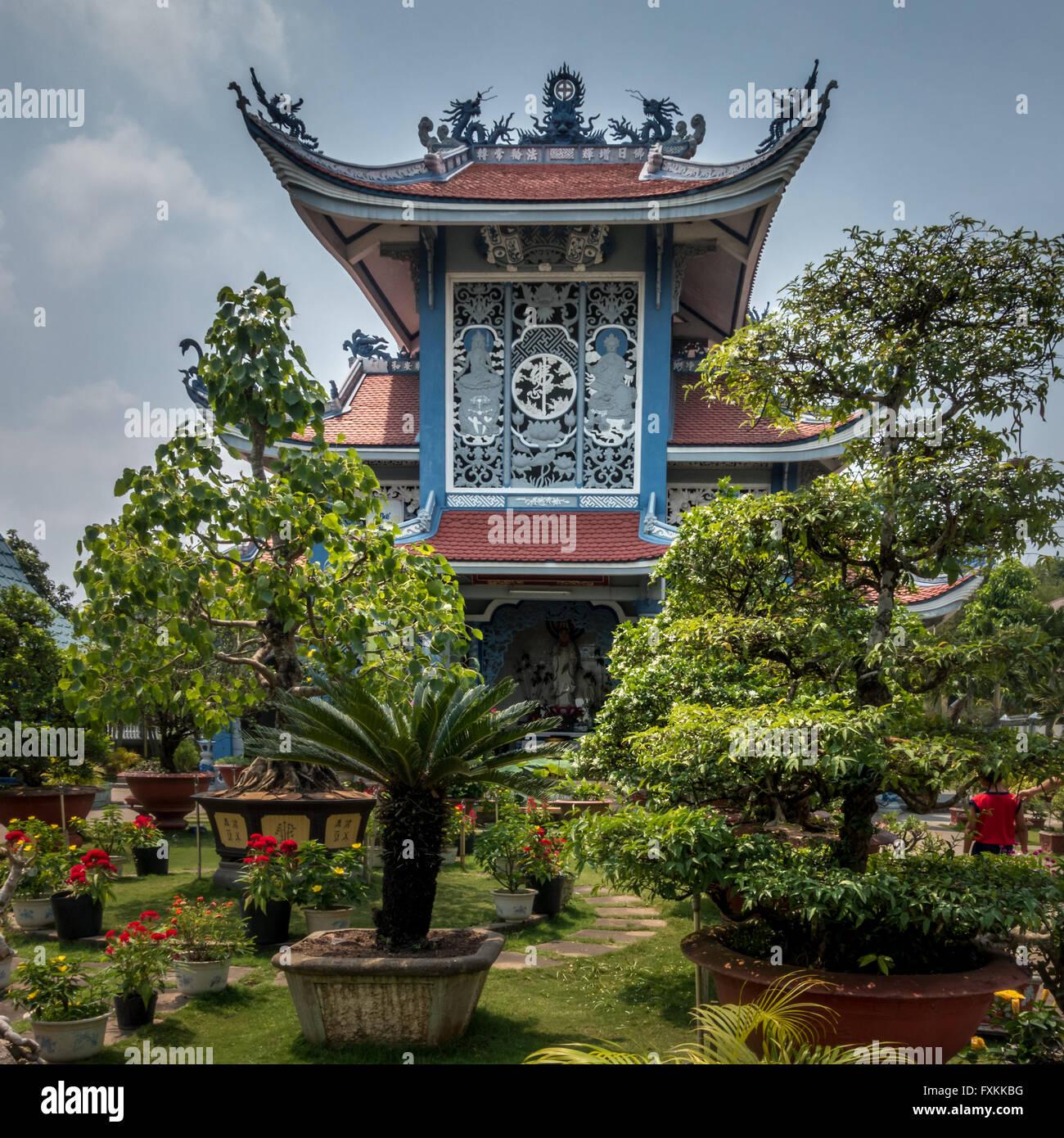 Buddhist Nuns Monastery of Phuoc Hue - Sa Dec, Mekong Delta, Vietnam - Stock Image