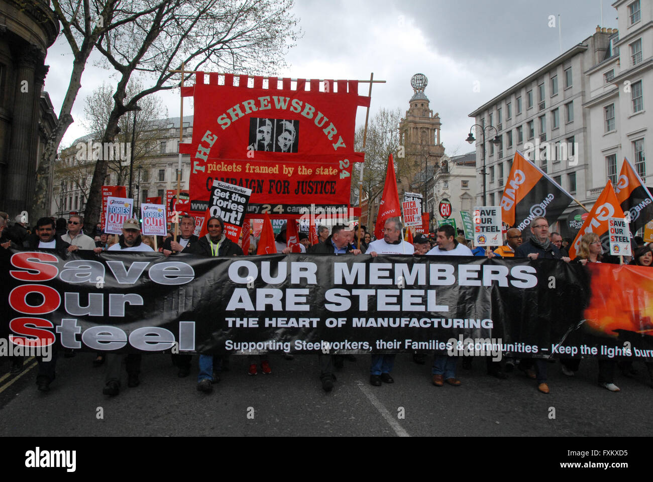 London UK 16 April 2016 People's Assembly anti-austerity march. Credit:  JOHNNY ARMSTEAD/Alamy Live News Stock Photo