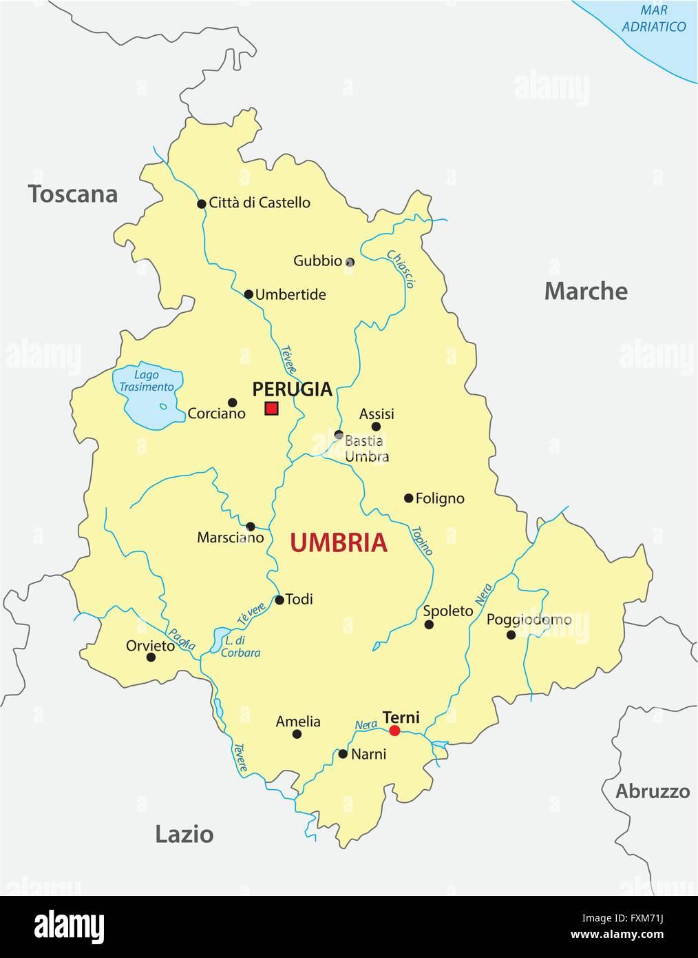 Cartina Italia Umbria