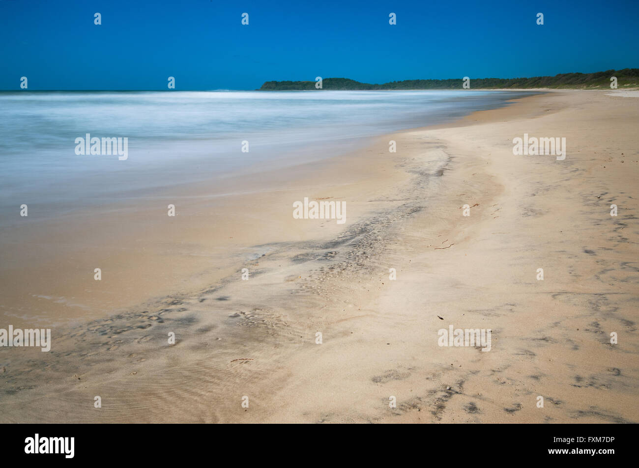 Bluff Beach in Bundjalung National Park. - Stock Image