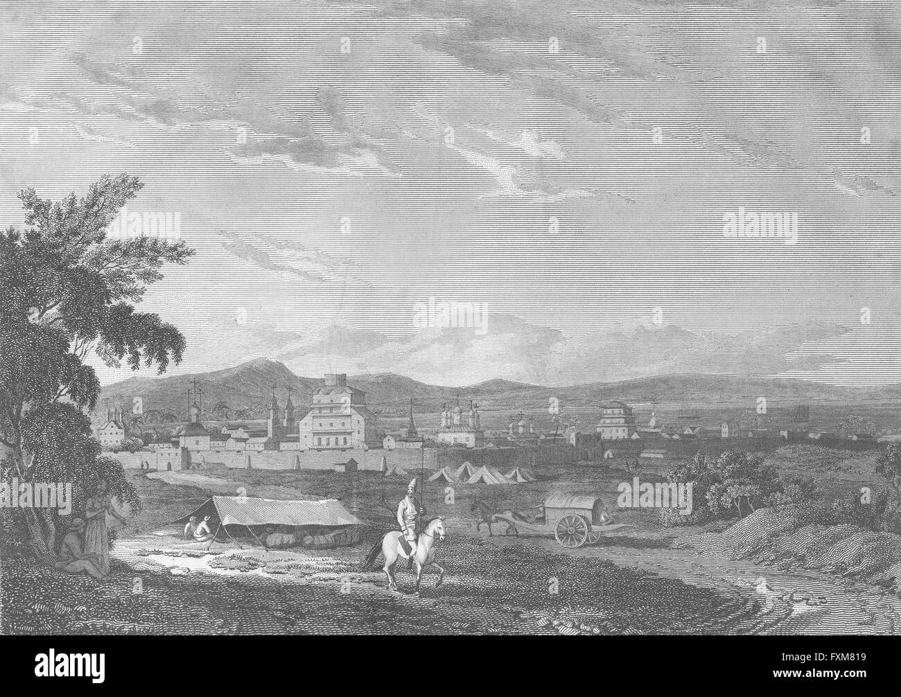 RUSSIA: Astrakhan, Tartary: Craig , antique print 1816 Stock Photo