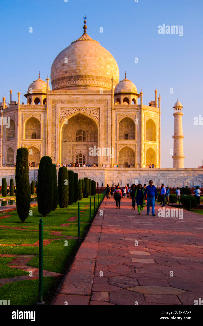 The Taj Mahal, Agra, Uttar Pradesh, India. Stock Photo