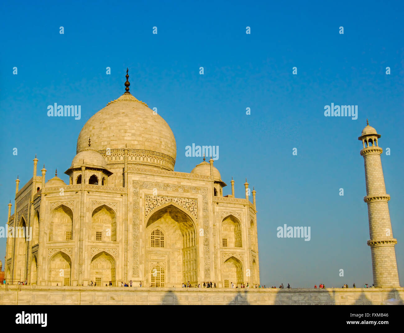 The Taj Mahal, Agra, Uttar Pradesh, India. - Stock Image