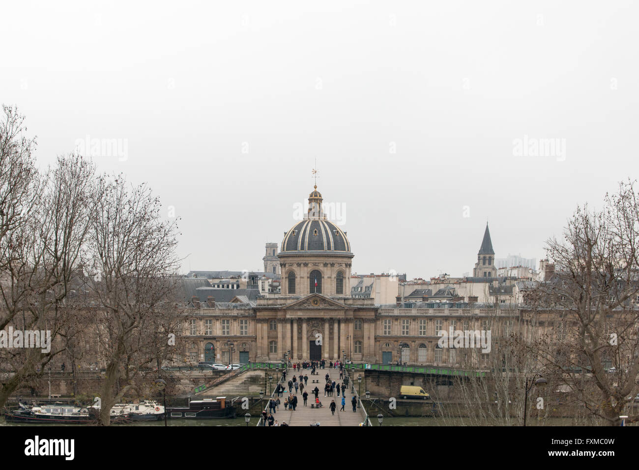 Institut de France, famous French learned society, in Paris. - Stock Image
