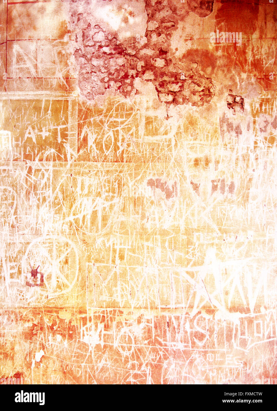 Old inscribed wall: Abstract textured background with red and brown ...