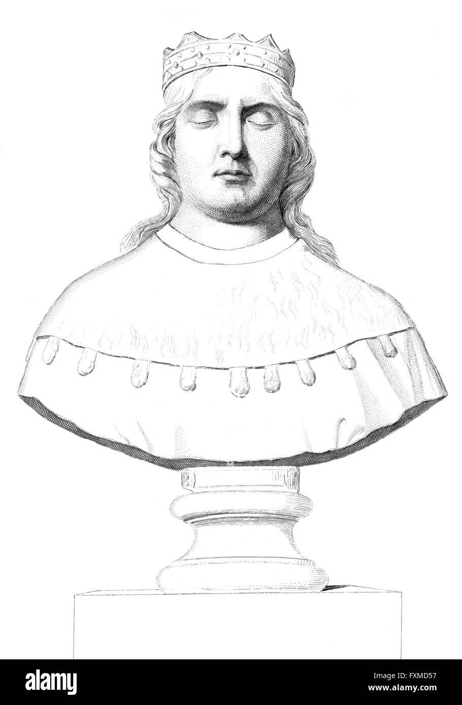 Charles of Orléans, Karl, Herzog von Orléans, 1394-1465, Duke of Orléans and Valois, medieval poet - Stock Image