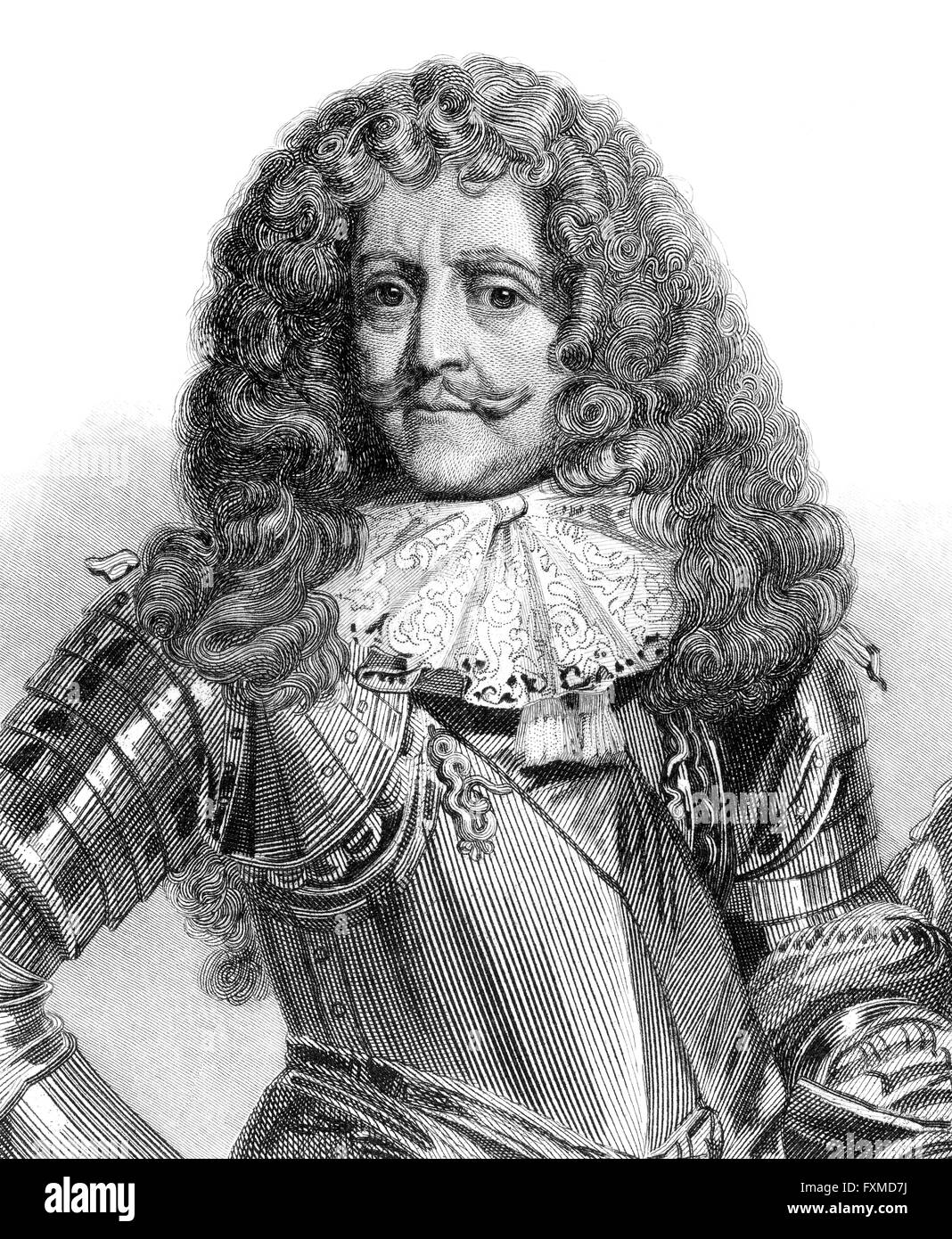 Antoine III Agénor de Gramont, Duke of Gramont, 1604-1678, a French military man and diplomat, Marshal of France - Stock Image