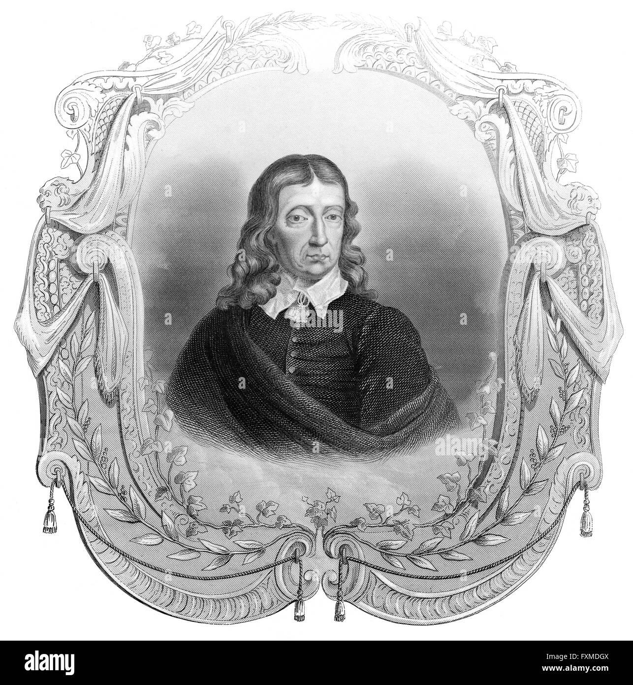John Milton, 1608 - 1674, an English poet and political philosopher, John Milton, 1608 - 1674, ein englischer Dichter - Stock Image