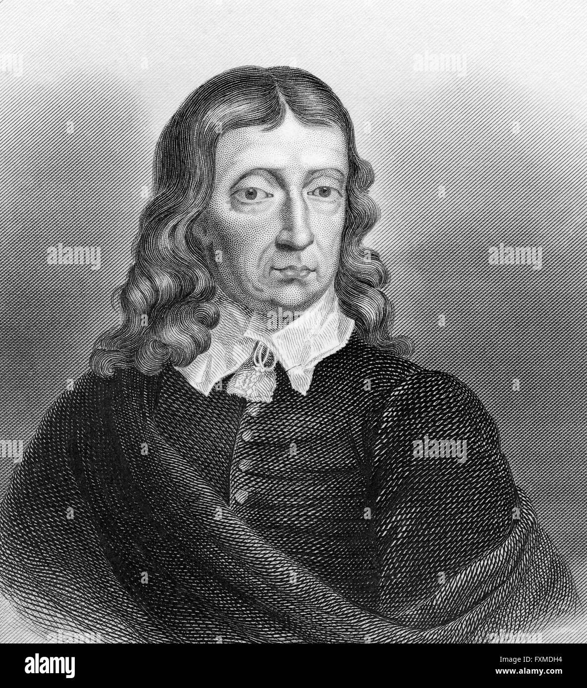 John Milton, 1608 - 1674, an English poet and political philosopher, - Stock Image