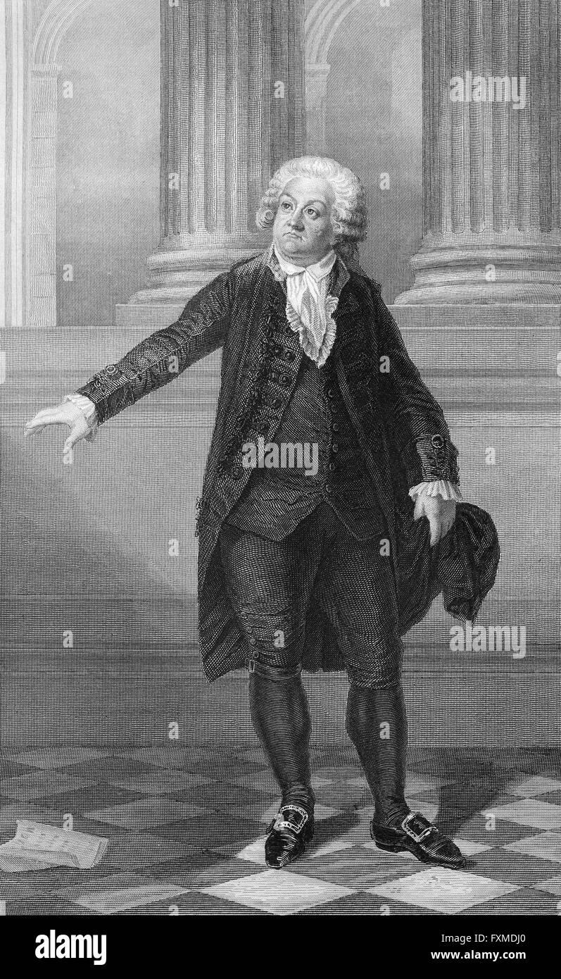 Honoré Gabriel Victor de Riqueti, Marquis de Mirabeau, 1749 - 1791, a French politician, writer and publicist, - Stock Image