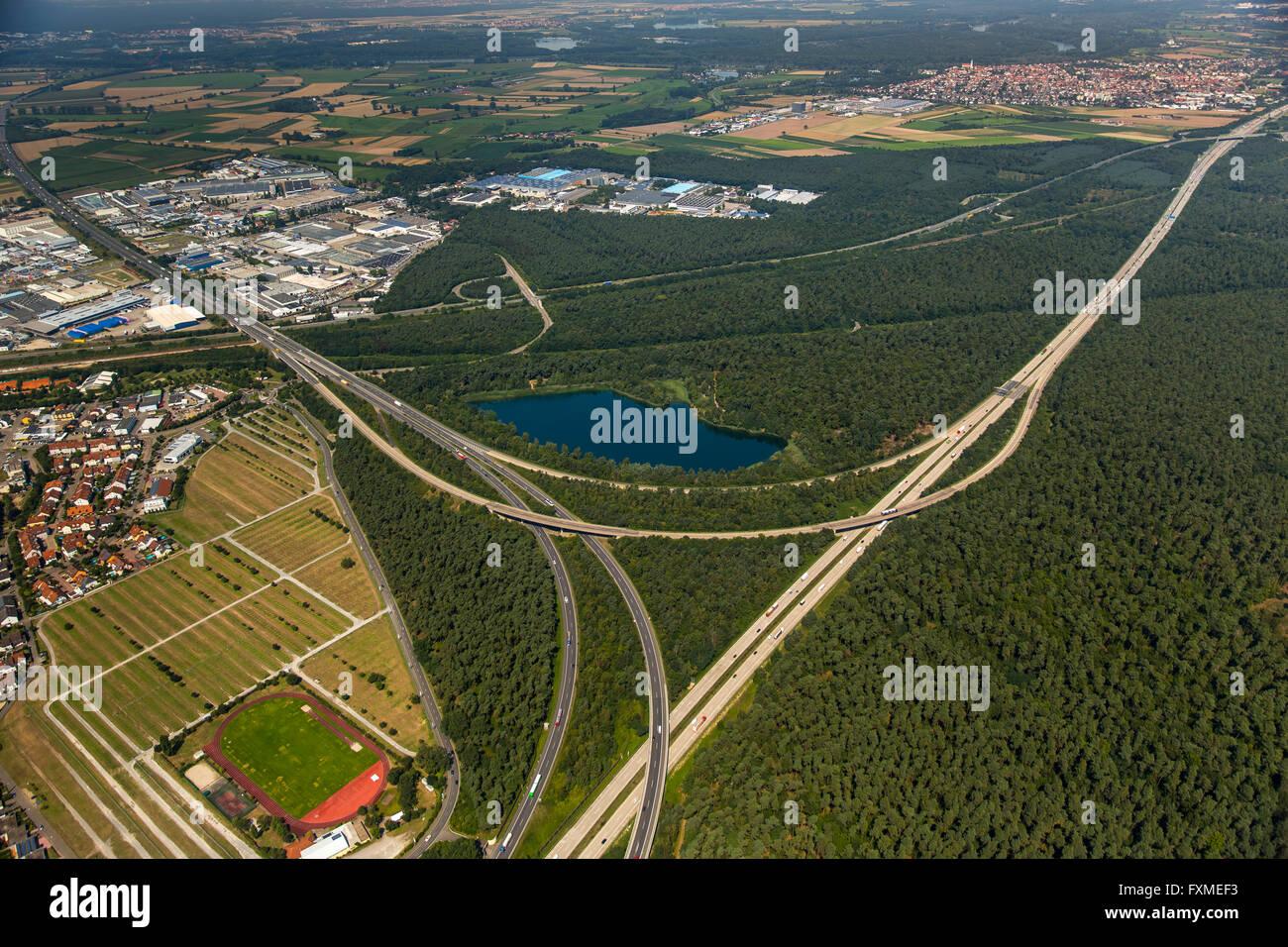 Aerial view, Hockenheimring, formerly Hockenheimring, Kurpfalzring, Motor Racing, DTM track, Germany, Europe, Aerial Stock Photo