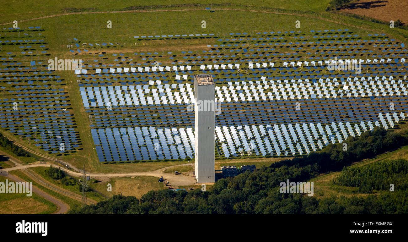 Aerial view, concentrated solar power, solar thermal power