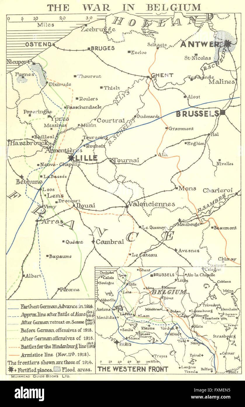 Belgium the first world war in belgium 1914 18 1929 vintage map belgium the first world war in belgium 1914 18 1929 vintage map gumiabroncs Gallery