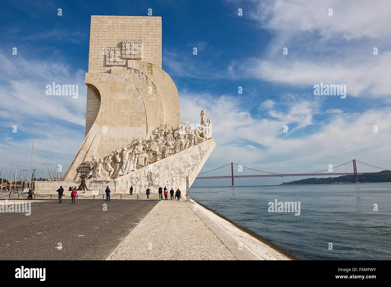 Padrão dos Descobrimentos, Lisbon, Portugal - Stock Image