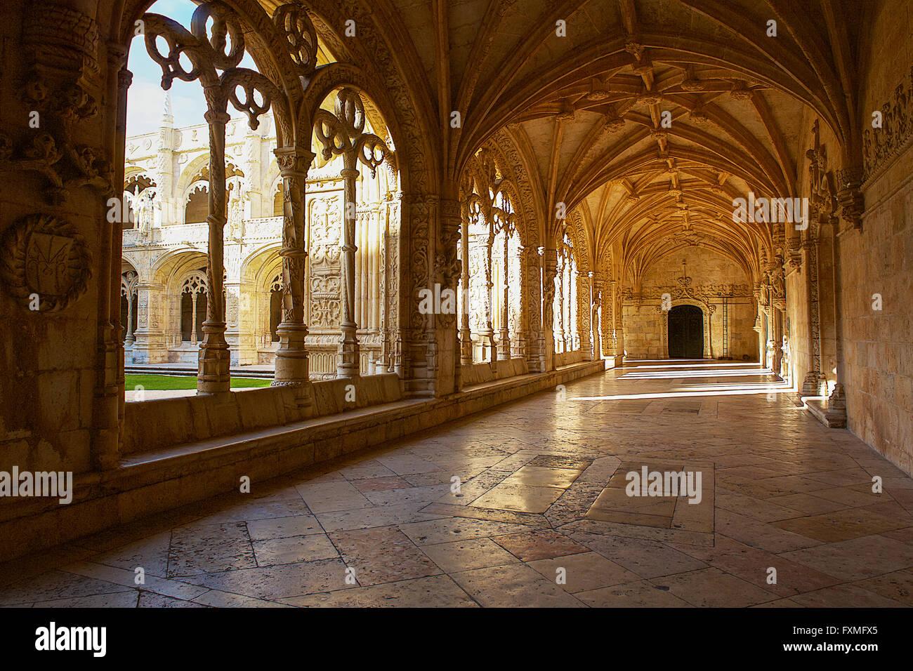Jerónimos Monastery, Lisbon, Portugal - Stock Image