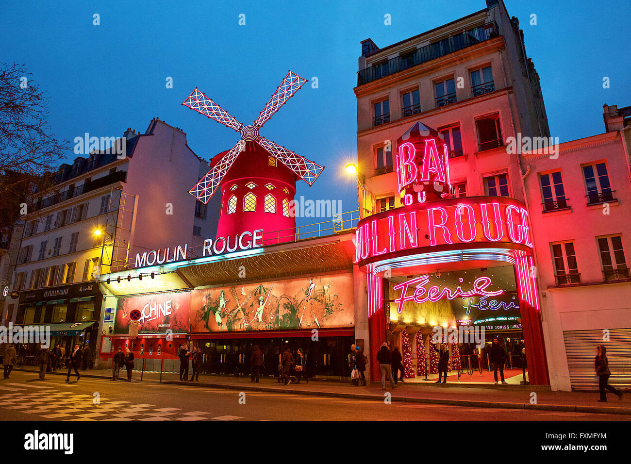 Moulin Rouge, Paris, France - Stock Image