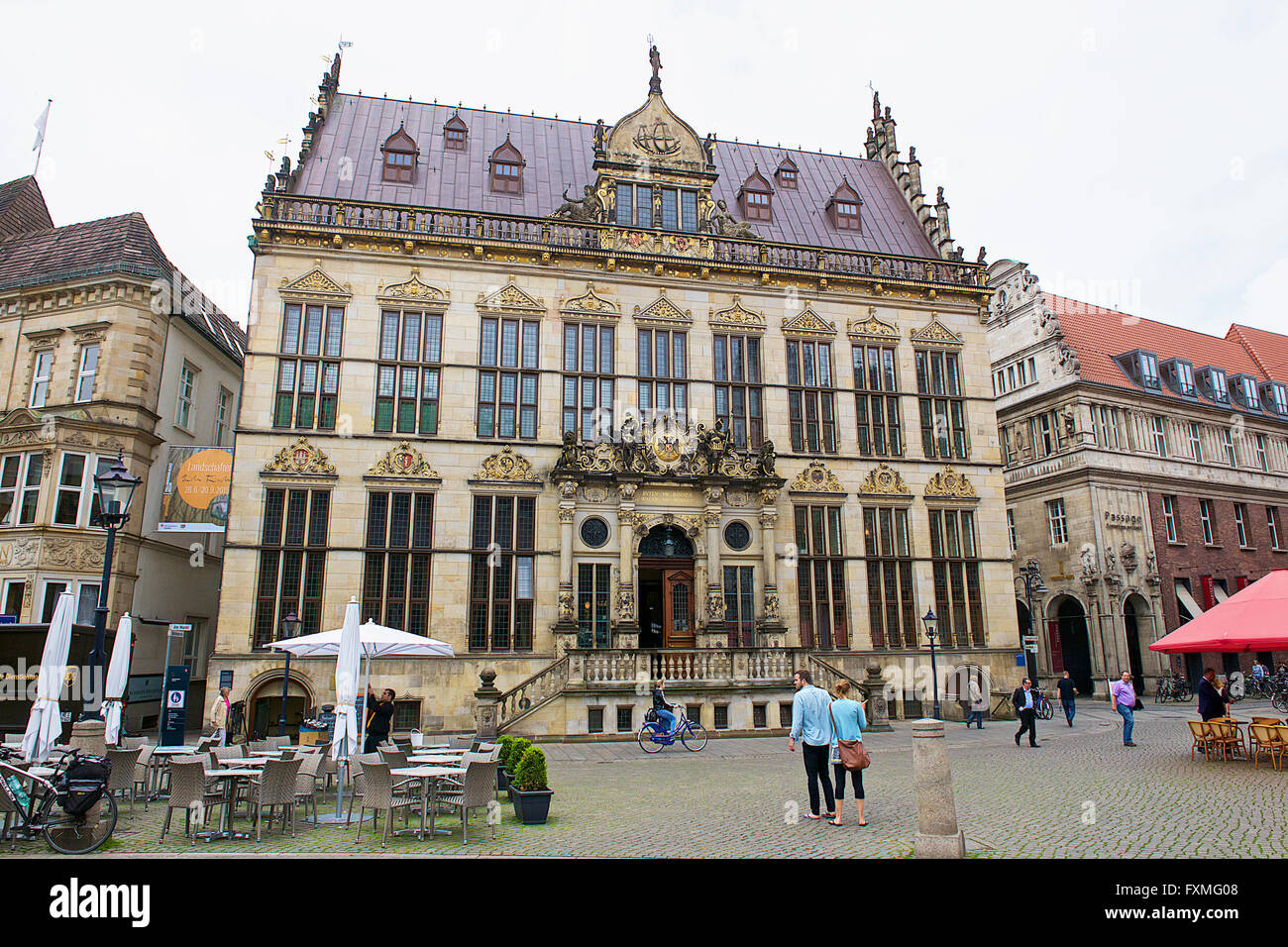 Bernen Chamber of Commerce, Bremen, Germany - Stock Image