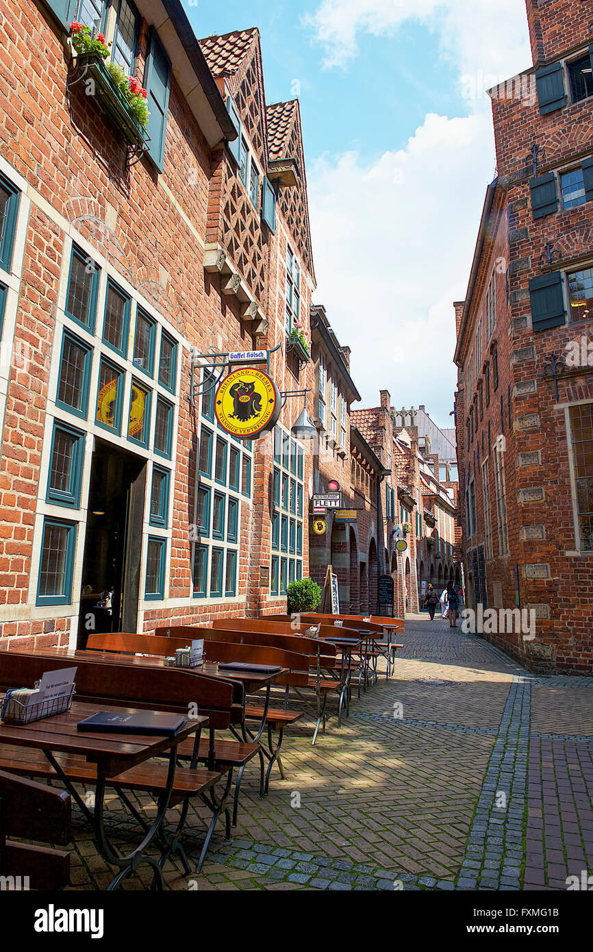 Street View of Bremen, Germany - Stock Image