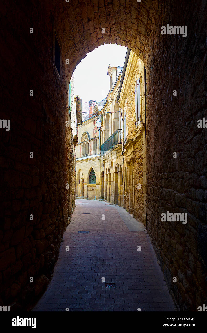 Street View of Belves, France - Stock Image