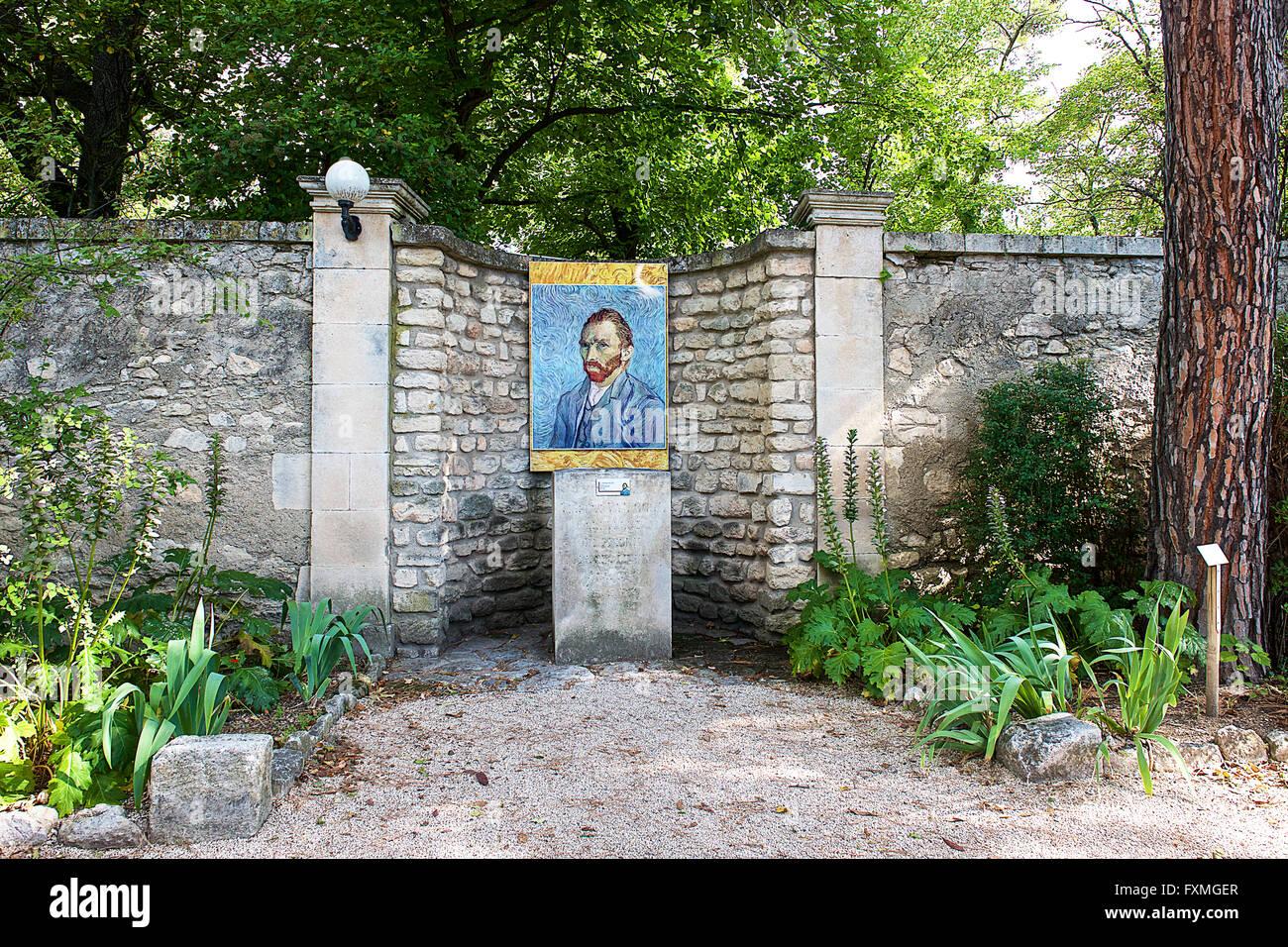 Portrait of Vincent Van Gogh, Saint Rémy de Provence, France - Stock Image